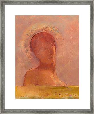 Closed Eyes Framed Print