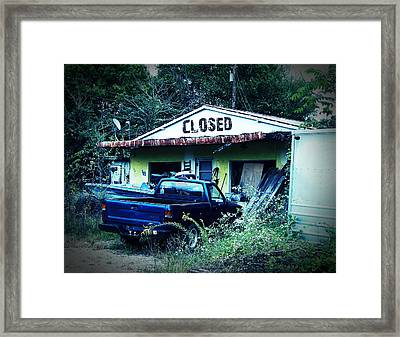 Closed For Repairs Framed Print