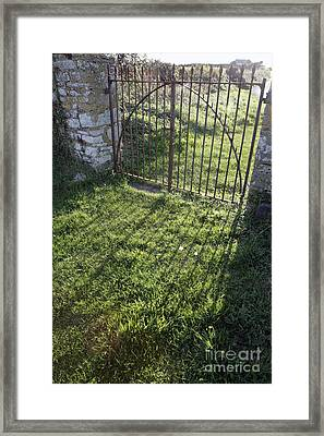 Closed Gateway Framed Print by Paul Felix
