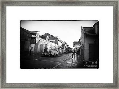 Closed In New Orleans Framed Print by John Rizzuto