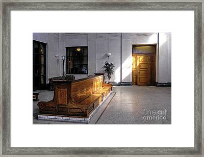 Closed Railroad Station - Johnstown Pa Framed Print