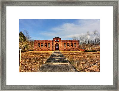 Closed School In Small Town Wv Framed Print by Dan Friend