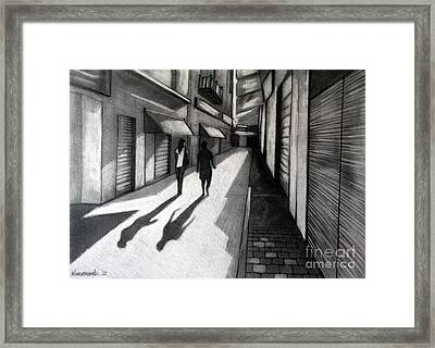 Closed Shops Framed Print by Kostas Koutsoukanidis