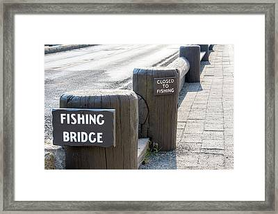 Closed To Fishing Framed Print