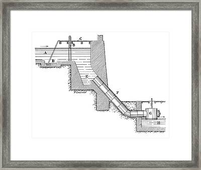 Closed Turbine Water Flow Framed Print by Science Photo Library