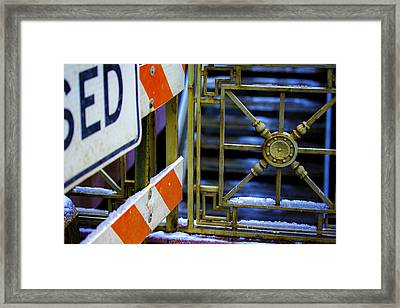 Closed Walkway Framed Print