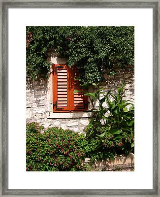 Closed Window Framed Print by Eva Csilla Horvath