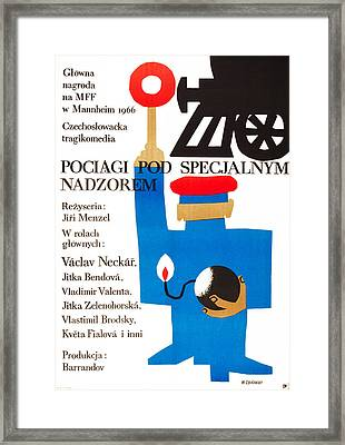 Closely Watched Trains, Polish Poster Framed Print by Everett