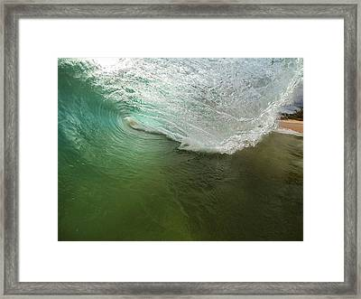 Closeout Wave Framed Print by Brad Scott
