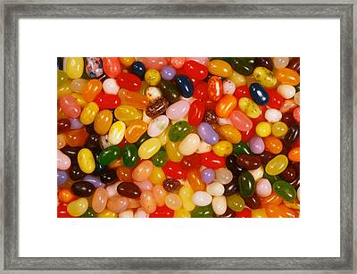Closeup Of Assorted Jellybeans  Framed Print by Anonymous