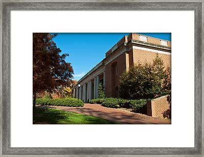 Closeup Of E H Little Library - Davidson College Framed Print by Paulette B Wright