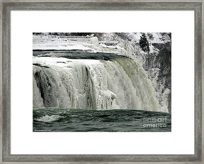 Closeup Of Icy Niagara Falls Framed Print