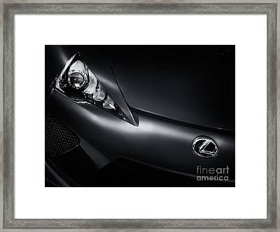Closeup Of Lexus Lfa Car Framed Print
