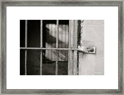 Closeup World War II Bunker Framed Print by Alex King