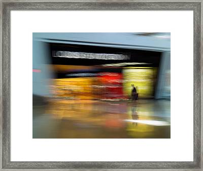 Closing In Framed Print