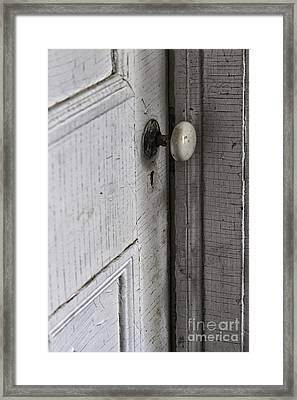 Closing The Door To The Past Framed Print