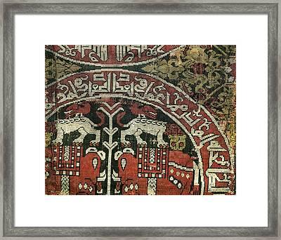 Cloth Fragment, 10th C. Islamic Art Framed Print by Everett
