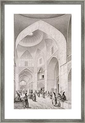 Cloth Market In Isfahan Framed Print by Pascal Xavier Coste