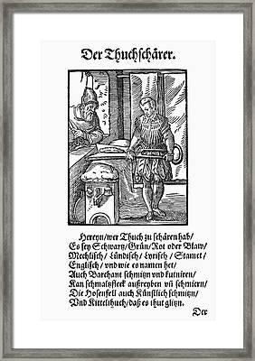 Cloth Shearer, 1568 Framed Print