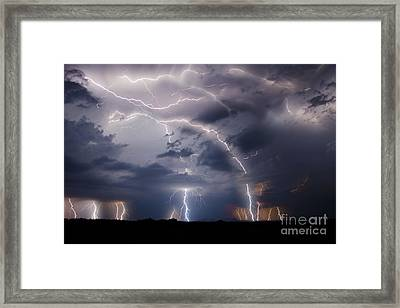 Clothed In Power Framed Print