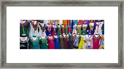 Clothes For Sale At Tekka Market Framed Print by Panoramic Images