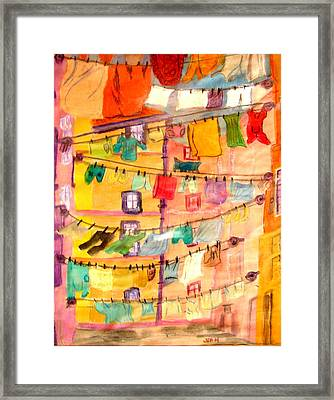 Clothes Line Framed Print