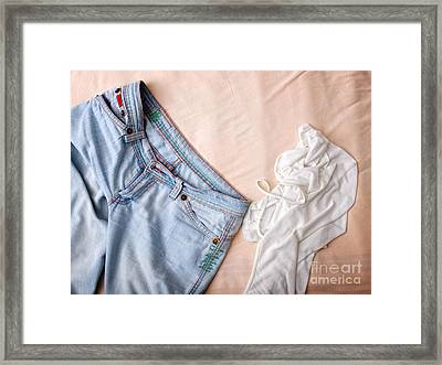 Clothes Mess Framed Print by Sinisa Botas