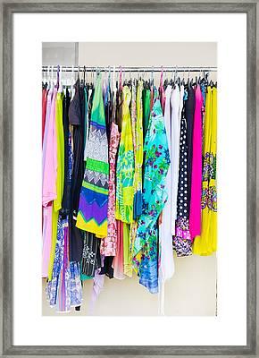 Clothes Rack Framed Print