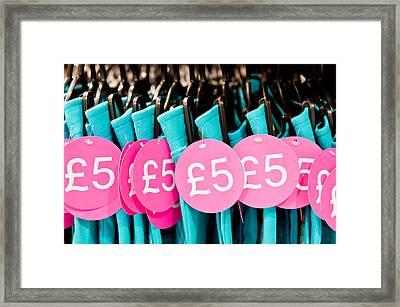 Clothes Sale Framed Print by Tom Gowanlock