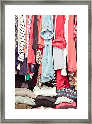 Clothes Framed Print by Tom Gowanlock