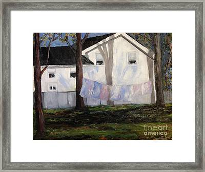 Clothesline Framed Print