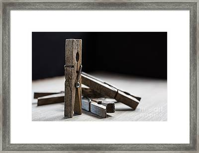 Clothespins Framed Print