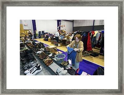 Clothing Donations Framed Print