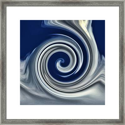 Cloud Abstract Framed Print by Ron Roberts