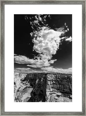 Cloud And Canyon Canyon De Chelly Navajo Nation Chinle Arizona- Framed Print by Silvio Ligutti