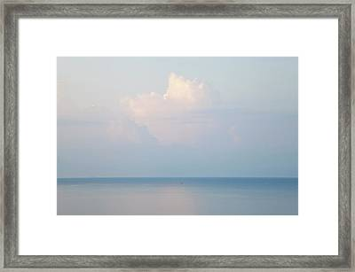 Cloud And Seascape, Rhodes, Greece Framed Print by Peter Adams