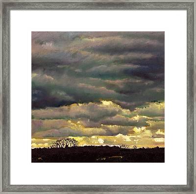 Cloud Burst Framed Print by Helen White