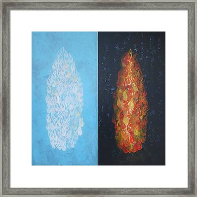 Cloud By Day Fire By Night Framed Print
