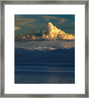 Cloud Cap Snow Cap Framed Print