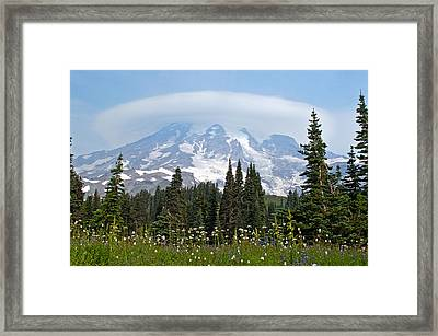 Cloud Capped Rainier Framed Print