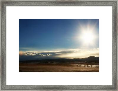 Cloud Cascades Framed Print