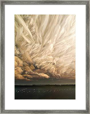 Cloud Chaos Cropped Framed Print
