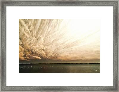 Cloud Chaos Framed Print by Matt Molloy
