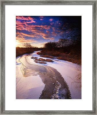 Cloud Creek Framed Print by Ray Mathis