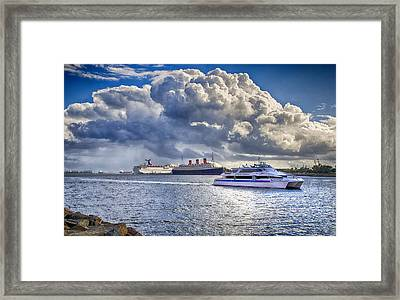 Cloud Crowns The Queen Framed Print by Joseph Hollingsworth