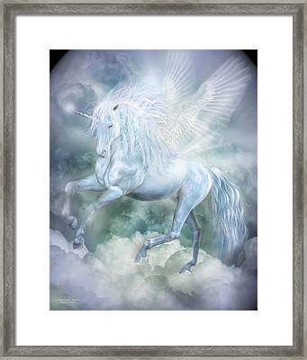 Unicorn Cloud Dancer Framed Print
