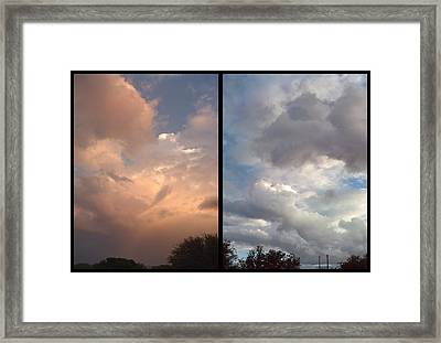 Cloud Diptych Framed Print by James W Johnson