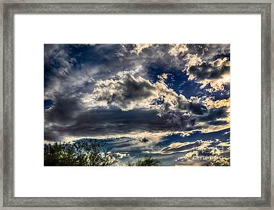 Framed Print featuring the photograph Cloud Drama by Mark Myhaver