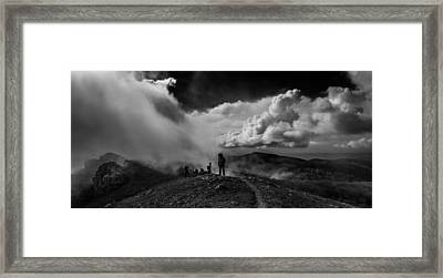 Cloud Factory Bw Framed Print
