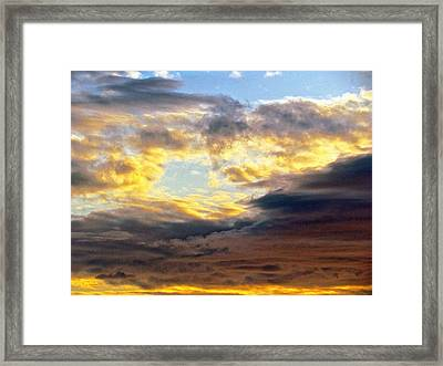 Cloud Finds Day Framed Print by Q's House of Art ArtandFinePhotography